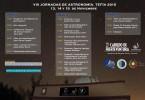 Cartel jornadas astronomía